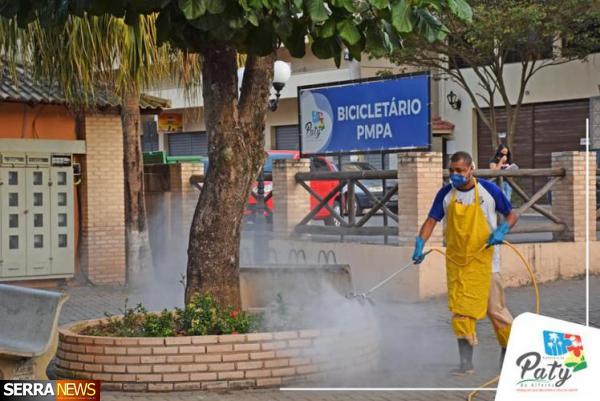 Prefeitura de Paty continua realizando ações contra a Covid-19
