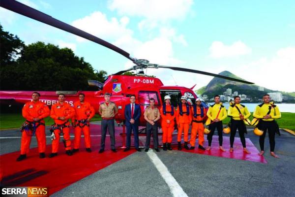 Miguel Pereira ganha um helicóptero do Corpo de Bombeiros