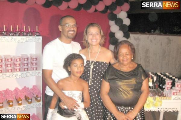 Lavínia Aline comemora seu aniversário