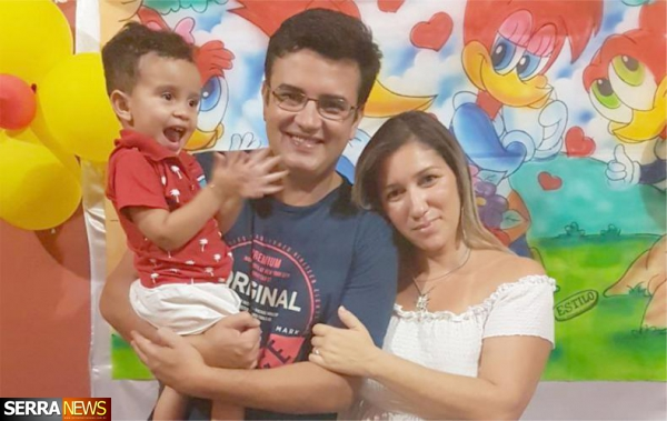 EDUARDO BALDEZ E RAFAELLE PRIETO COMEMORAM ANIVERSAŔIO DE DUDU