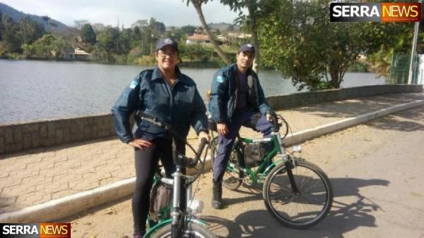 Guarda Municipal substitui viatura por bicicleta elétrica em ronda no Lago